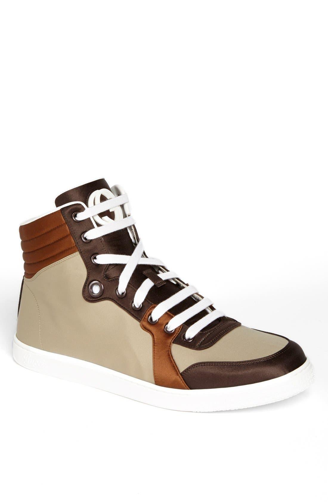 Main Image - Gucci 'Coda' Satin High Top Sneaker