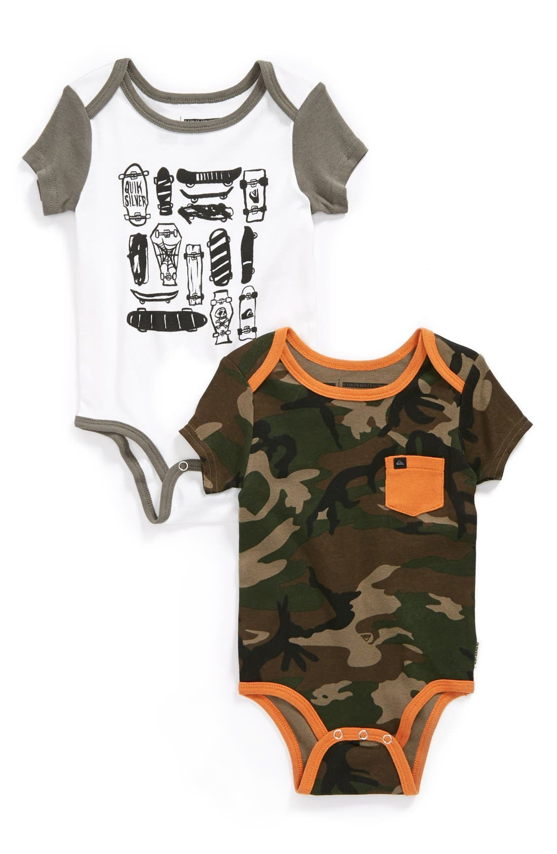 Main Image - Quiksilver 'Play Pen' Bodysuit (2-Pack) (Baby Boys)