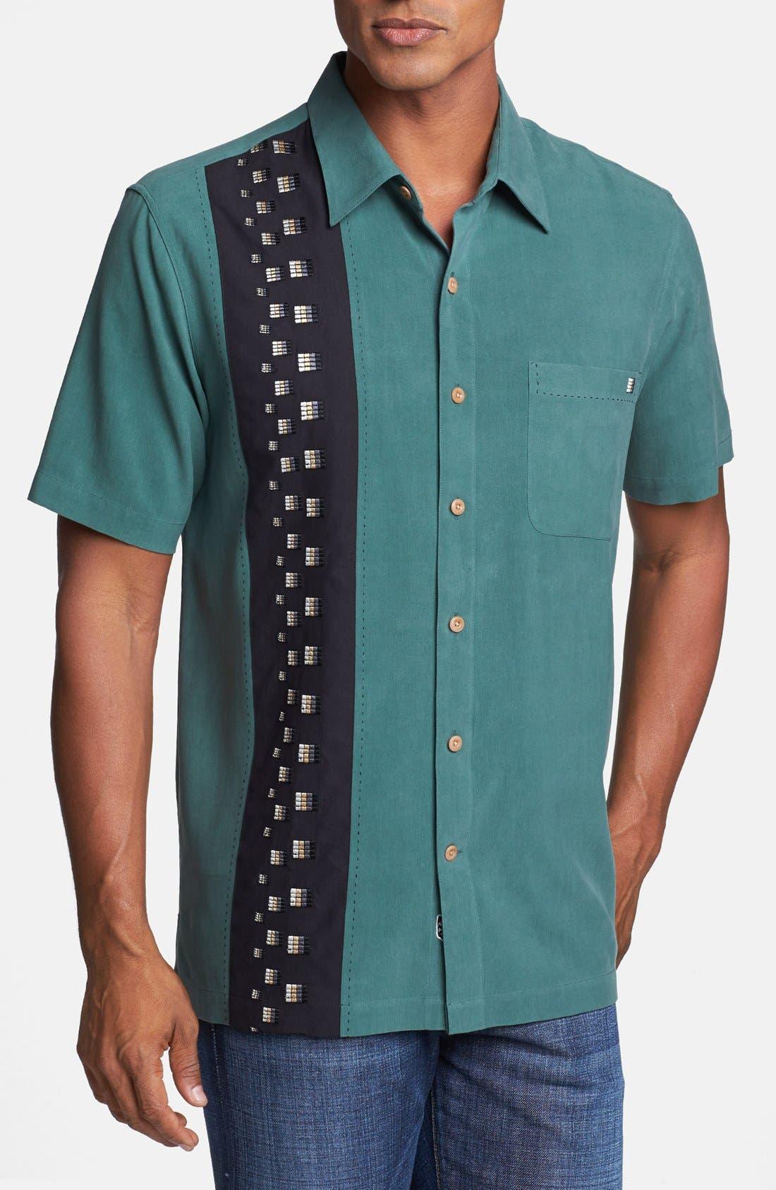 Alternate Image 1 Selected - Nat Nast 'Down the Line' Short Sleeve Silk Sport Shirt