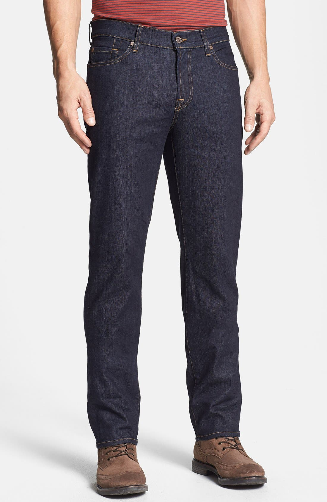 Alternate Image 1 Selected - 7 For All Mankind® 'Slimmy' Slim Fit Jeans (Dark & Clean)
