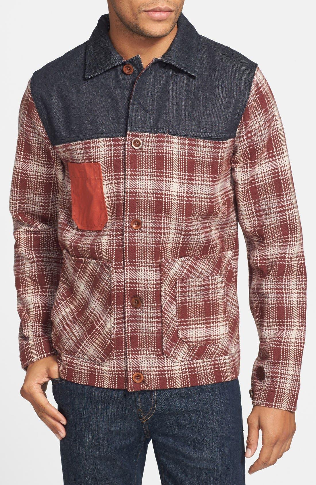 Main Image - Marshall Artist Plaid Coat