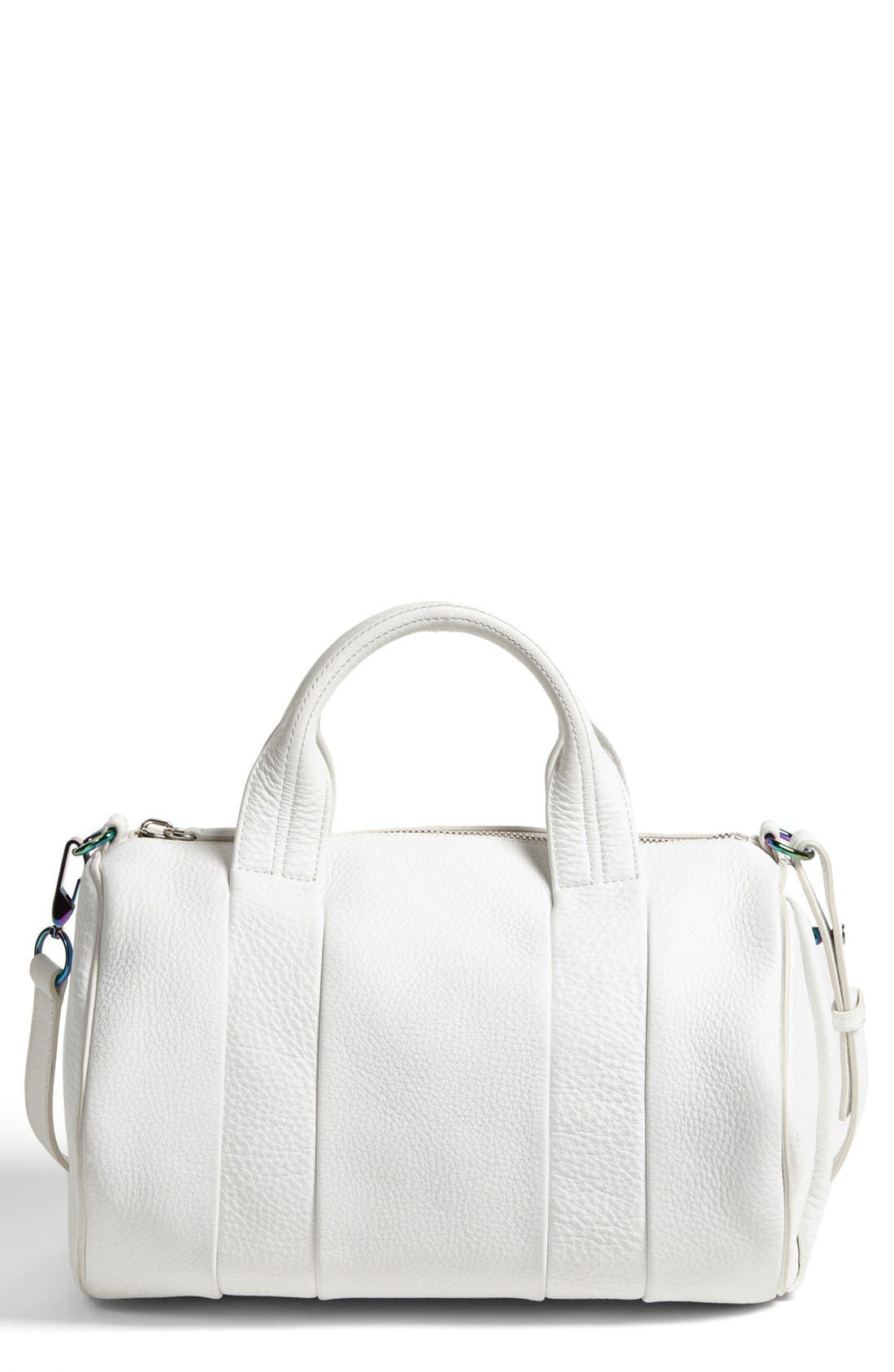 Main Image - Alexander Wang 'Rocco - Iridescent' Leather Satchel