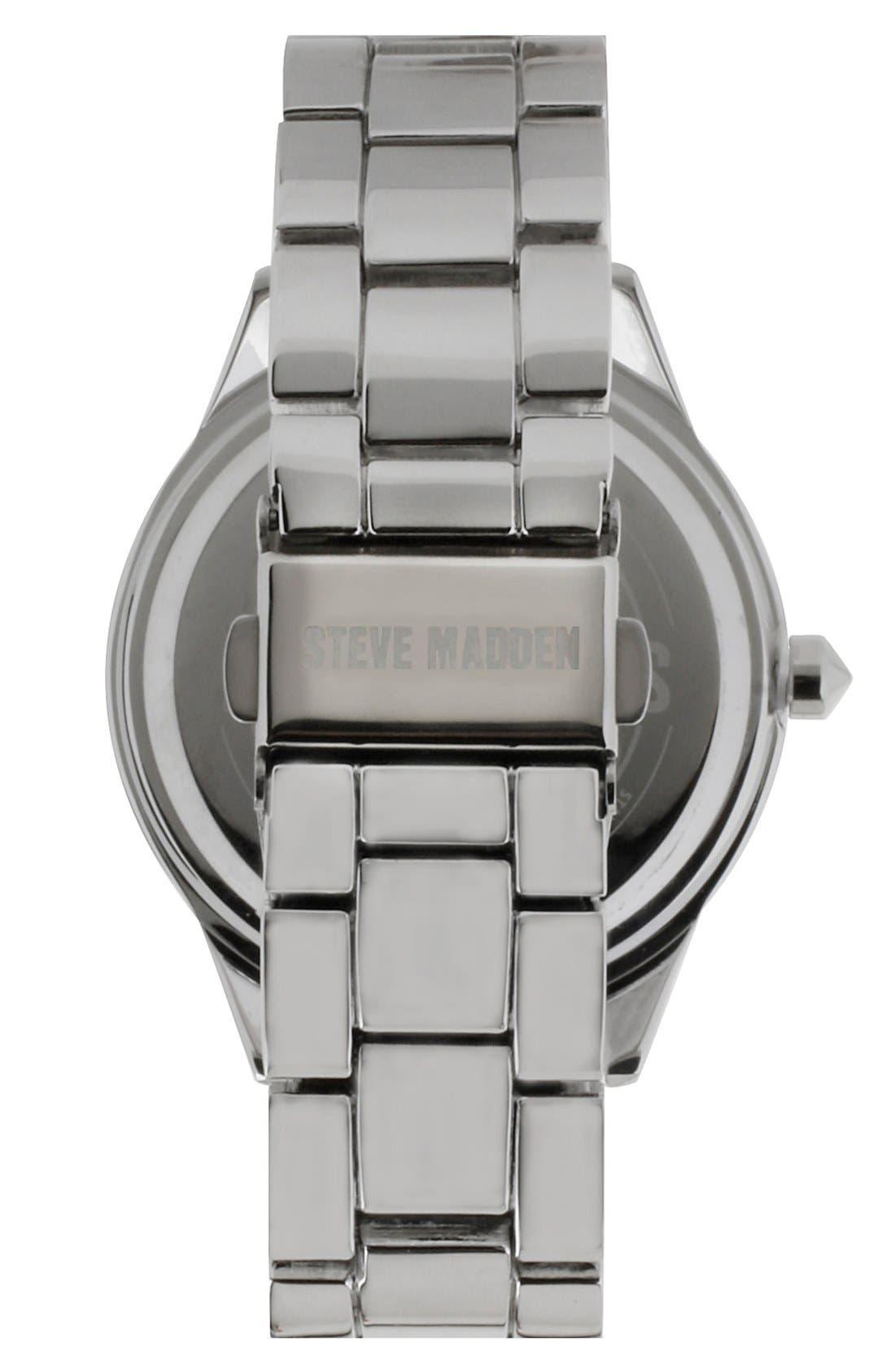 Alternate Image 2  - Steve Madden Round Colored Dial Bracelet Watch, 40mm
