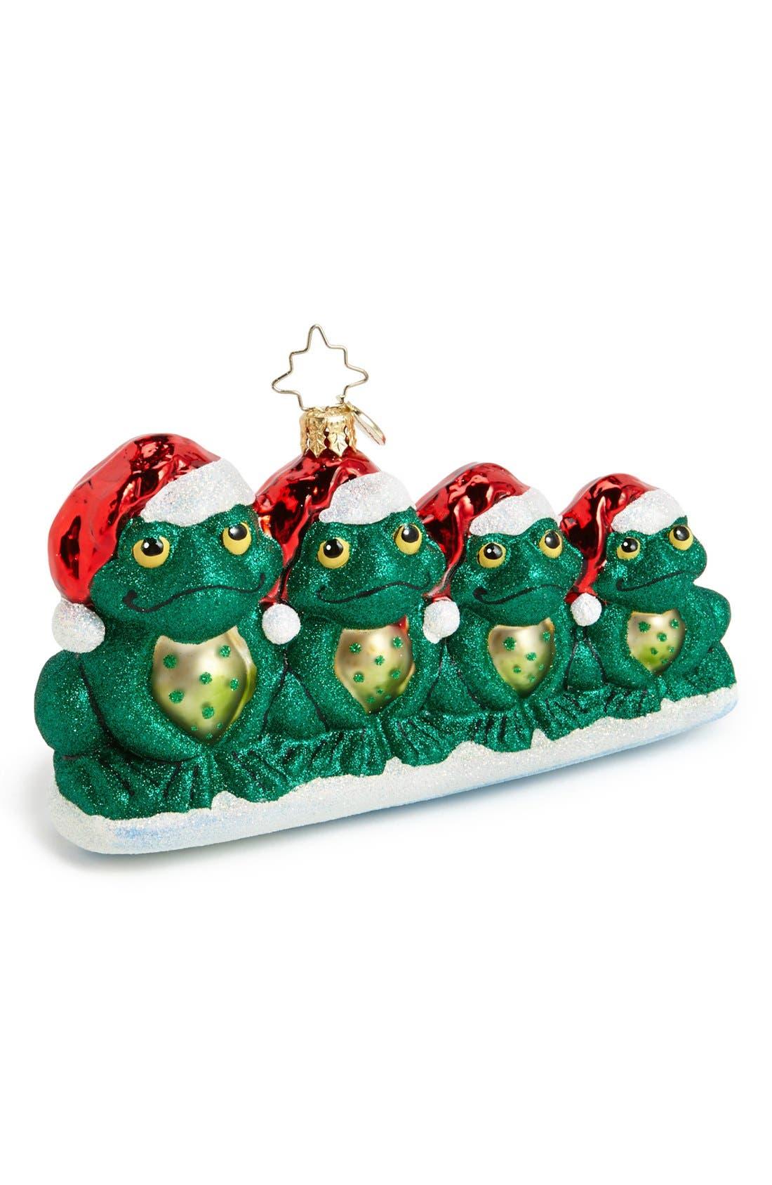 Main Image - Christopher Radko 'Wish You a Froggy Christmas' Ornament
