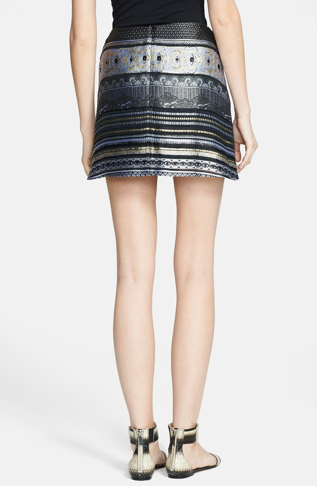 Alternate Image 2  - KENZO Invert Pleat Jacquard Miniskirt