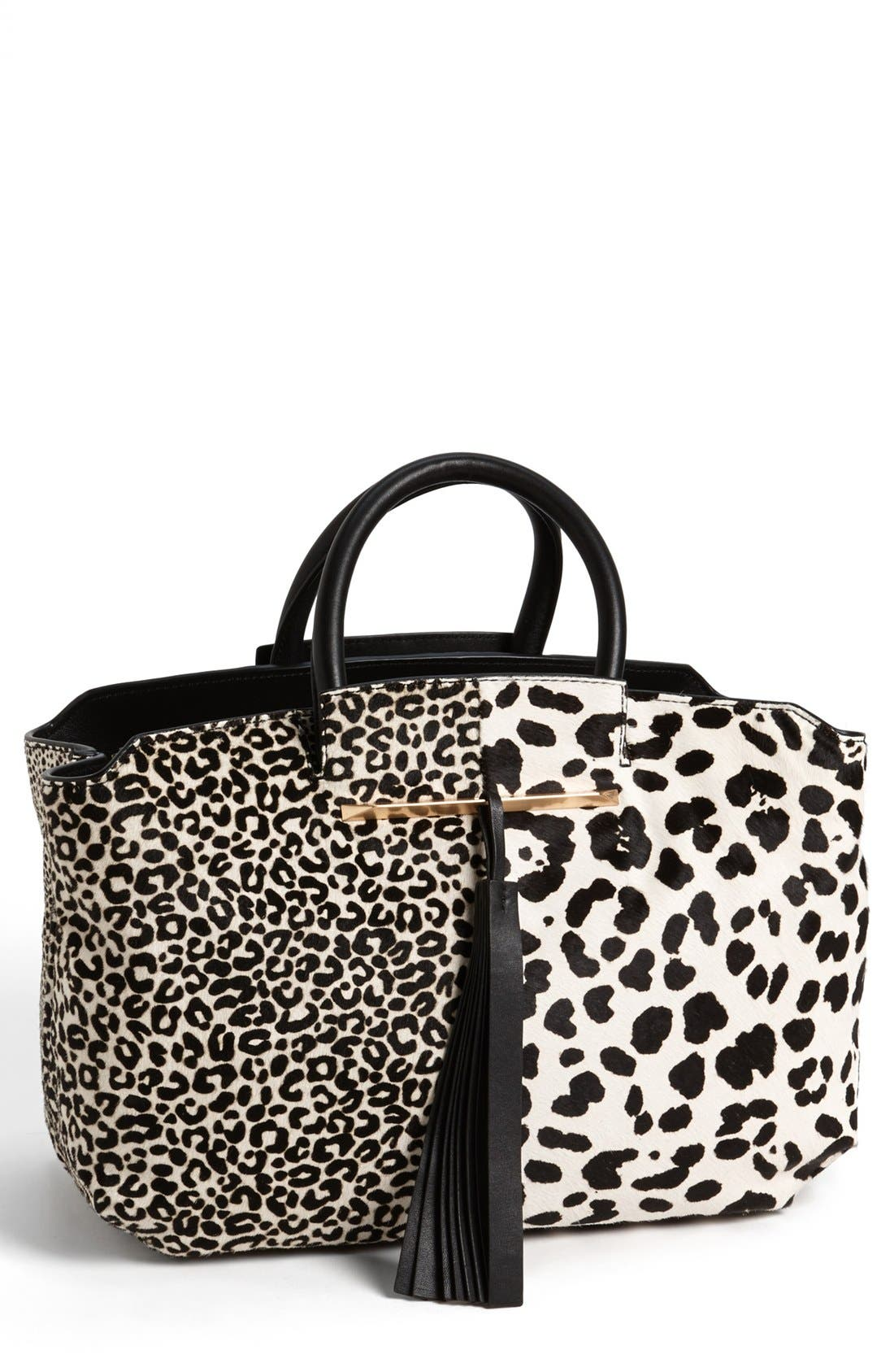 Alternate Image 1 Selected - B Brian Atwood 'Gena' Animal Pattern Calf Hair Tote, Medium