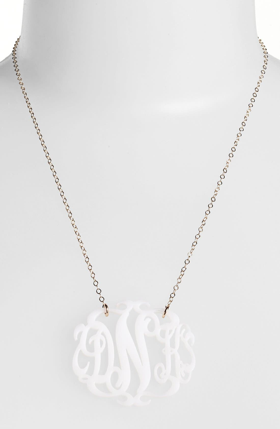 Moon and Lola Large Oval Personalized Monogram Pendant Necklace (Nordstrom Exclusive)