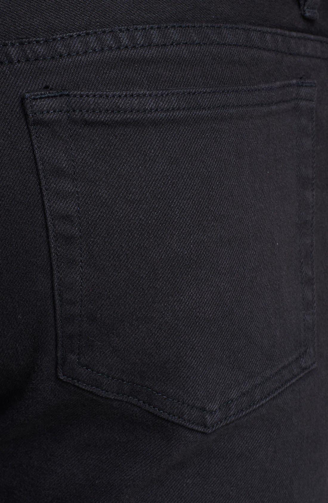 Alternate Image 4  - A.P.C. 'Petit Standard' Skinny Fit Jeans (Black)