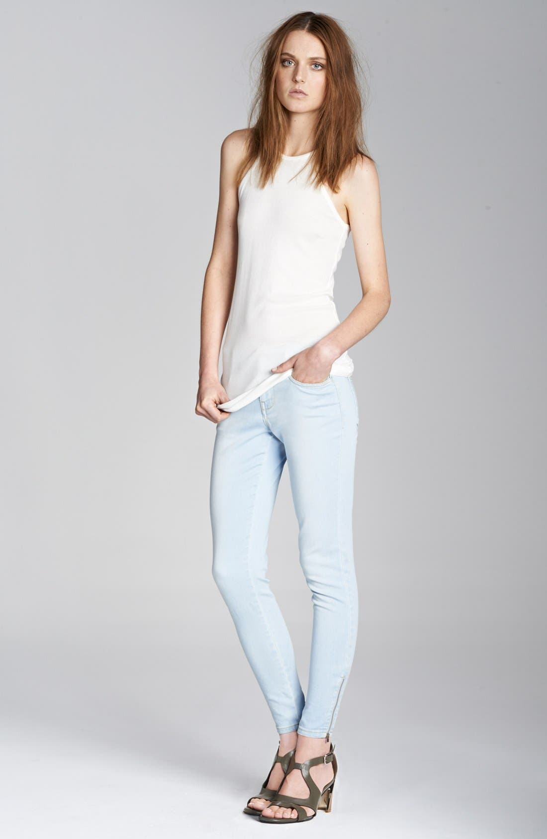 Alternate Image 4  - Stella McCartney 'Jessica' Skinny Ankle Zip Jeans