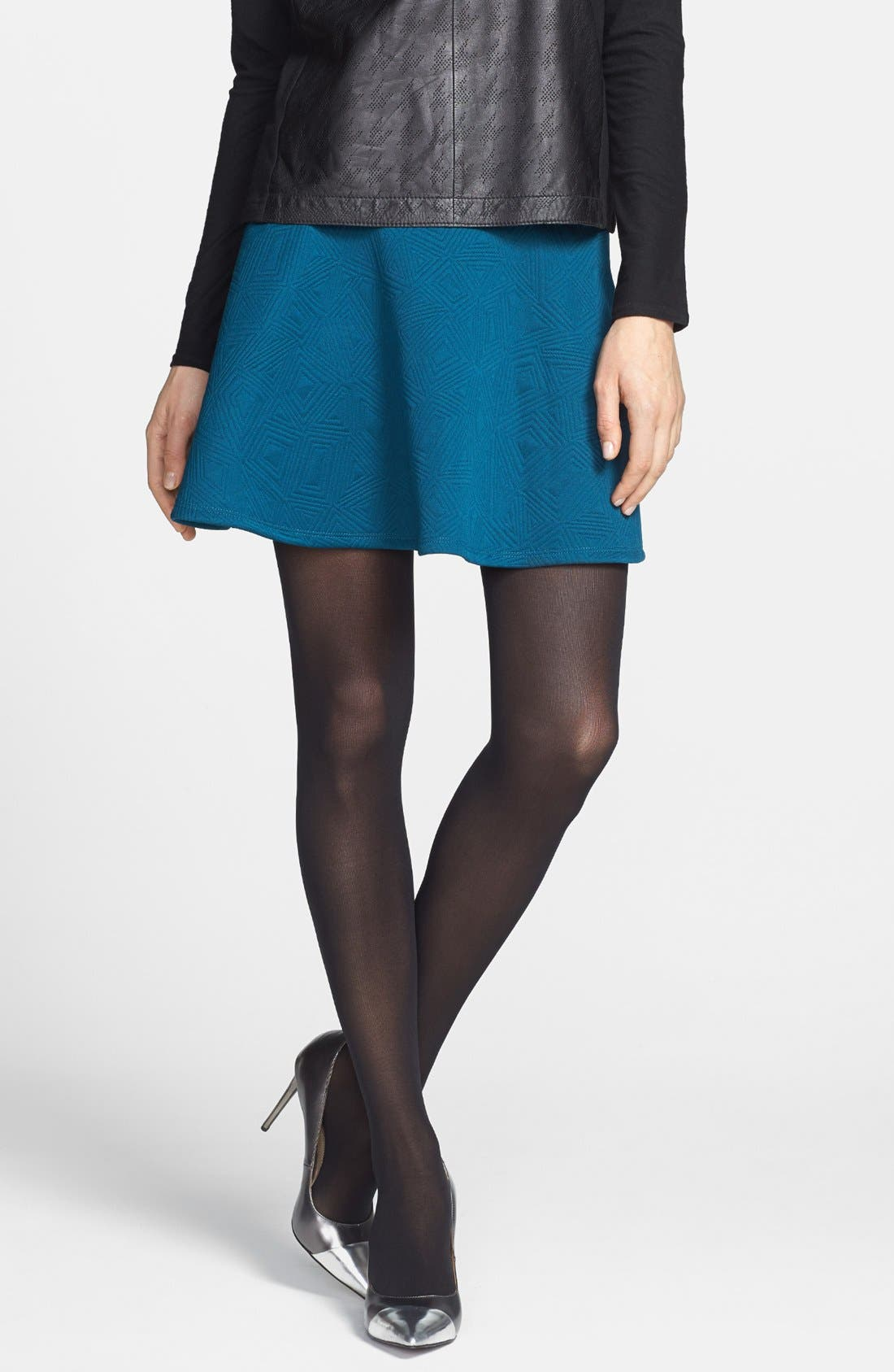 Alternate Image 1 Selected - DKNY '412' Control Top Opaque Tights