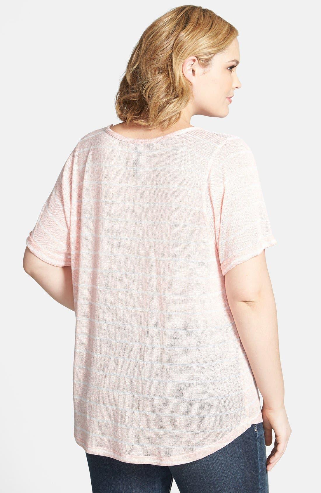 Alternate Image 2  - Jessica Simpson 'Scarlett Hatchi' Knit & Lace Top (Plus Size)