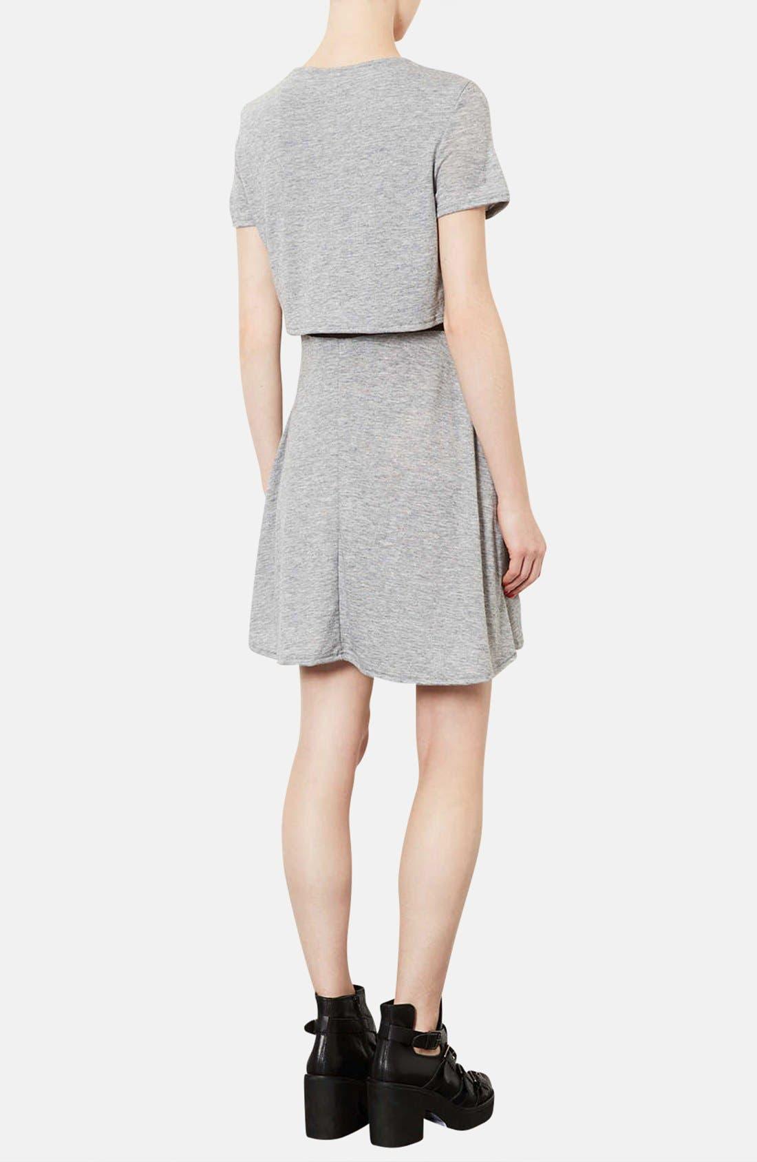 Alternate Image 2  - Topshop Mesh Inset Overlay Shift Dress