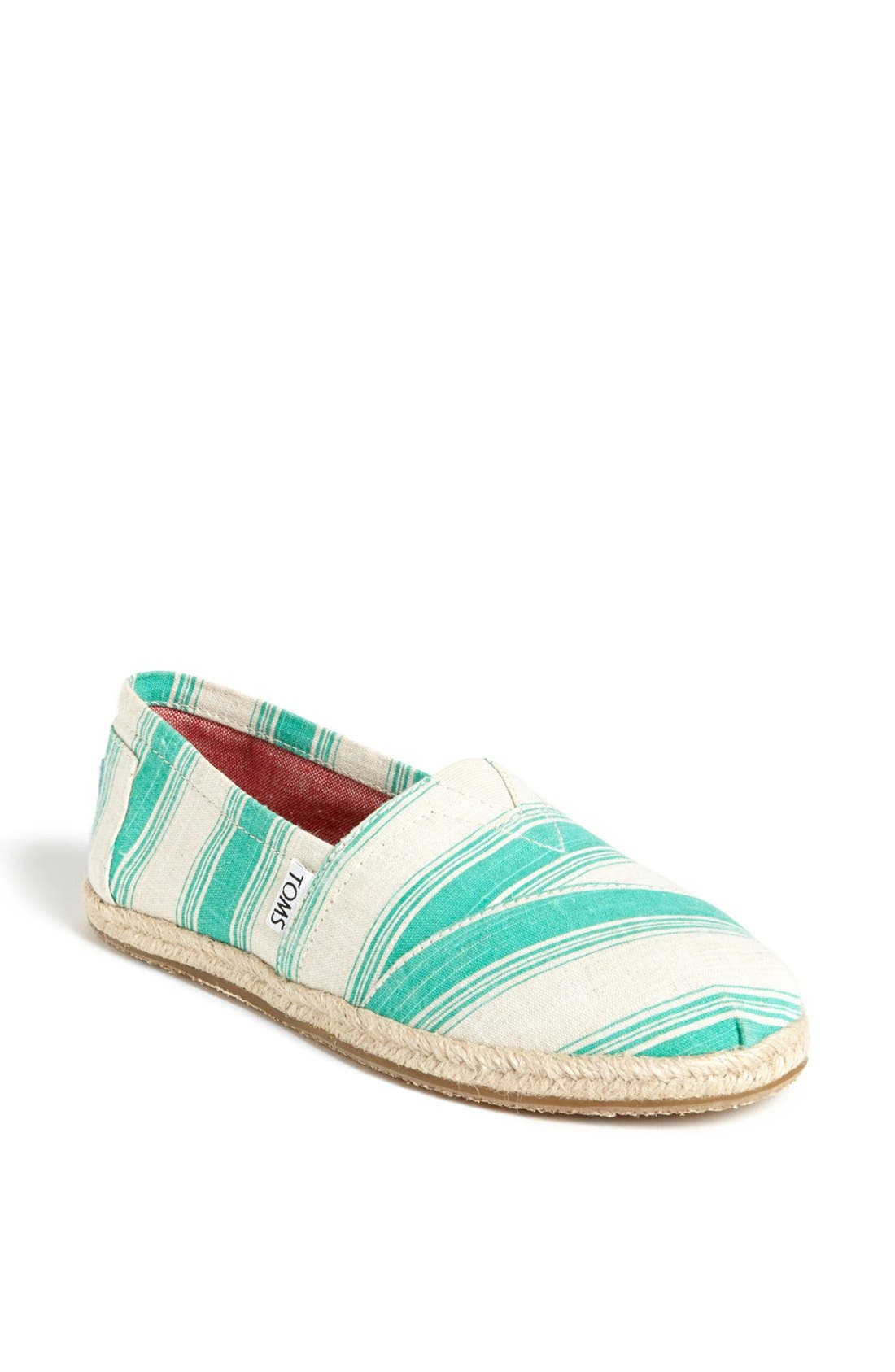 Alternate Image 1 Selected - TOMS 'Classics - Umbrella Stripe' Slip-On (Women)