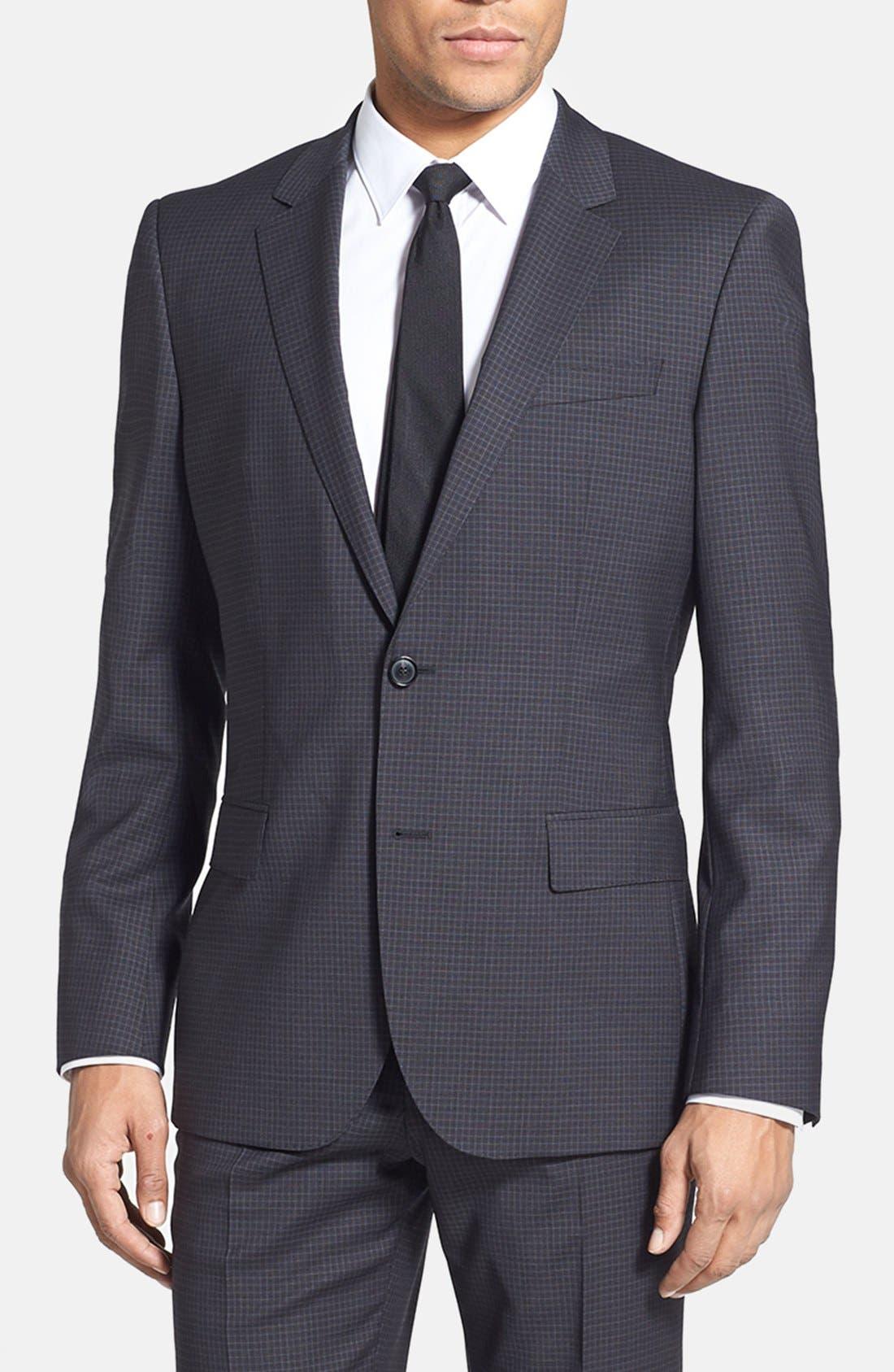 Alternate Image 3  - BOSS HUGO BOSS 'Huge/Genius' Trim Fit Check Suit