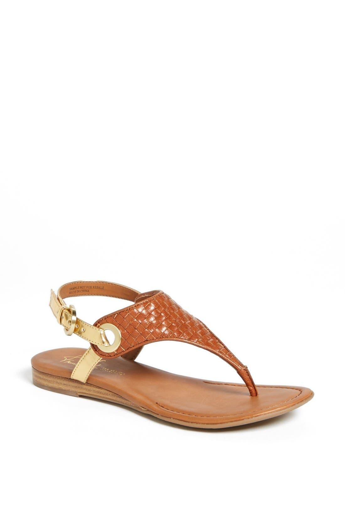 'Grip' Sandal,                         Main,                         color, Cuoio Weave