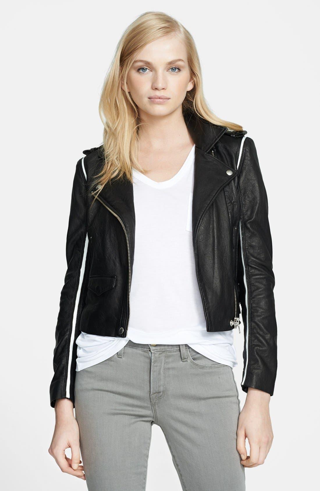 Alternate Image 1 Selected - IRO 'Ashvie' Leather Moto Jacket