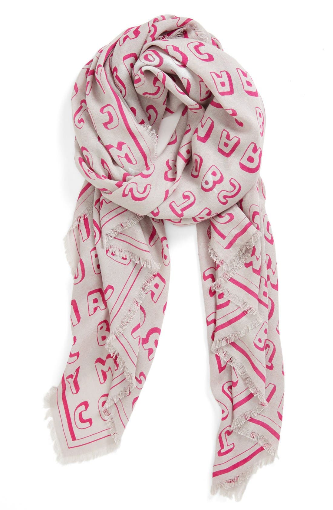 Main Image - MARC BY MARC JACOBS 'Dynamite' Logo Scarf