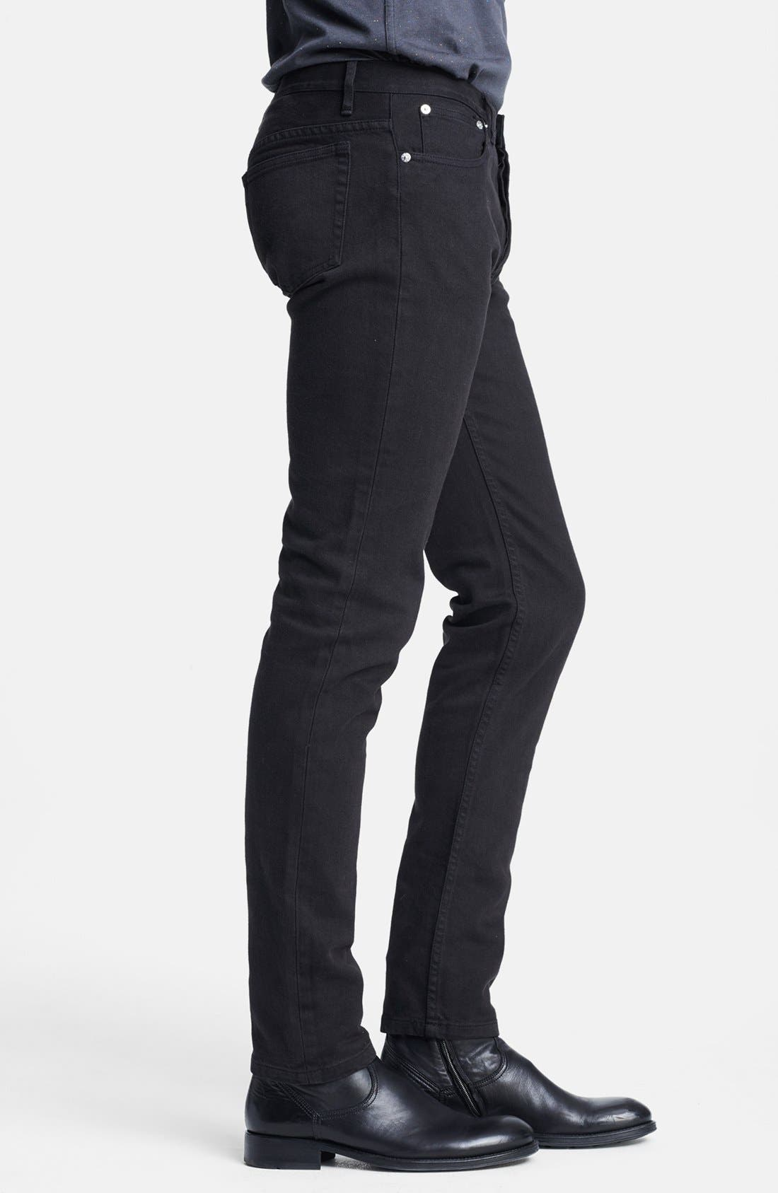 Alternate Image 3  - A.P.C. 'Petit Standard' Skinny Fit Jeans (Black)
