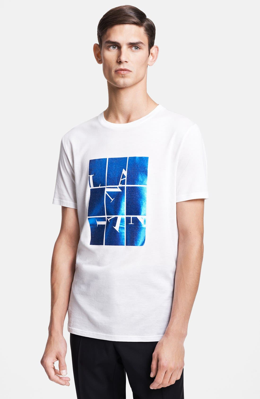 Alternate Image 1 Selected - Lanvin 'Iridescent Logo' Crewneck T-Shirt