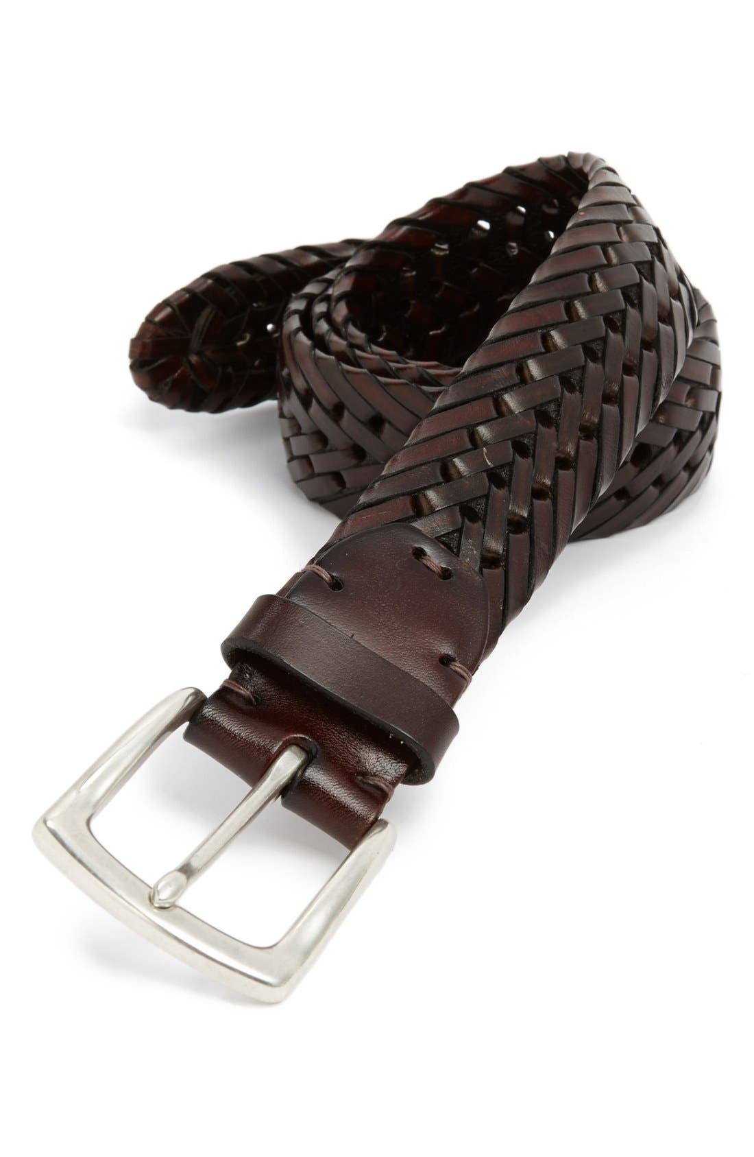 Alternate Image 1 Selected - John W. Nordstrom® Woven Leather Belt