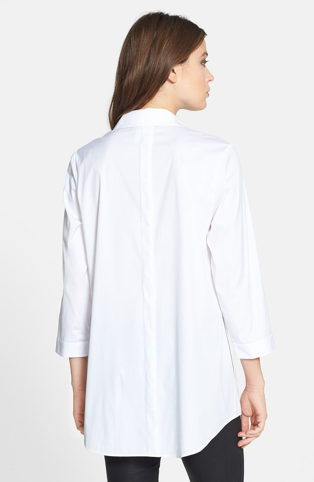 Alternate Image 2  - Lafayette 148 New York 'Tierny - Excursion Stretch' Tunic Shirt