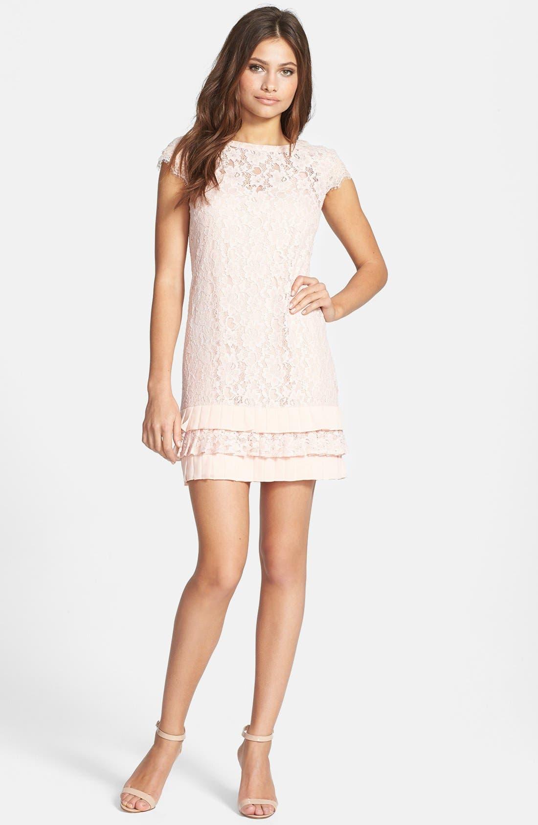 Jessica simpson ruffle hem lace shift dress nordstrom ombrellifo Gallery
