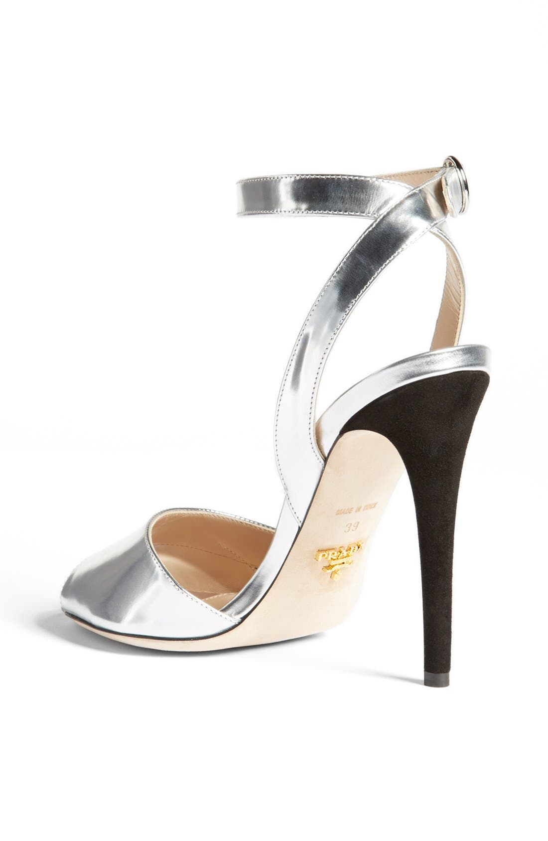 Alternate Image 2  - Prada Bicolor Metallic Ankle Strap Sandal