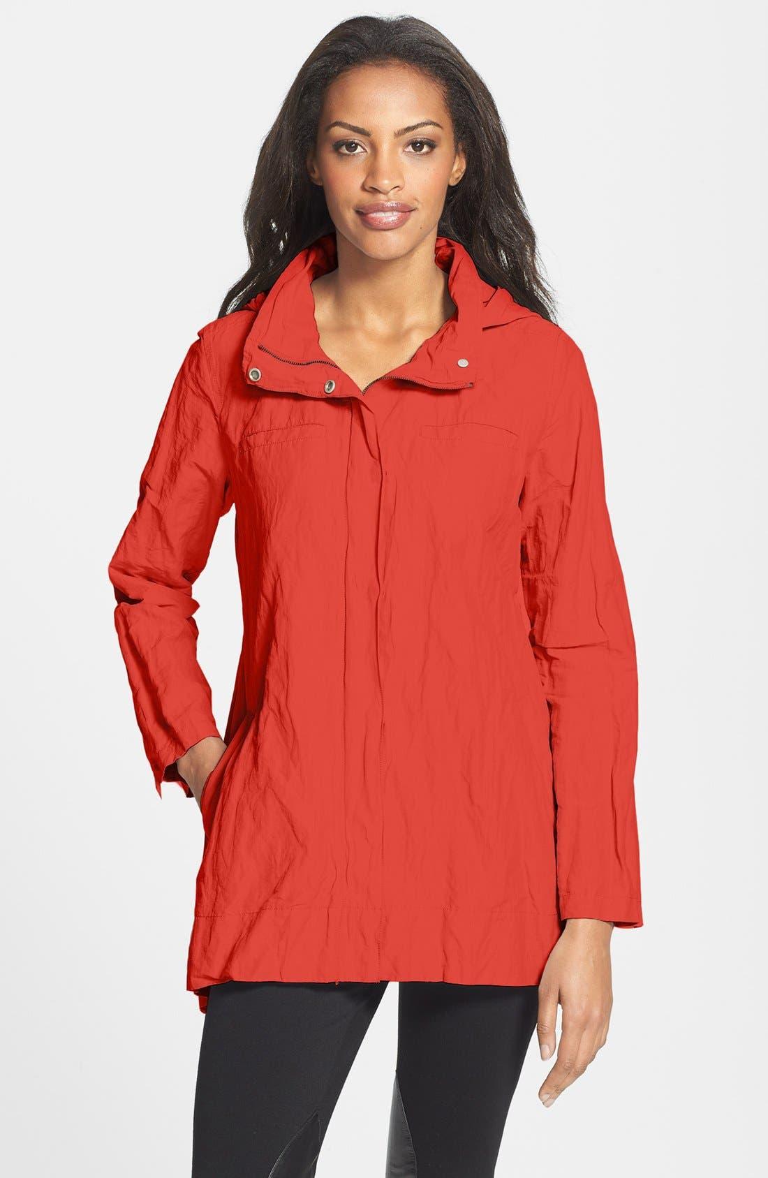 Main Image - Eileen Fisher Roll Sleeve Crinkled Jacket (Regular & Petite)
