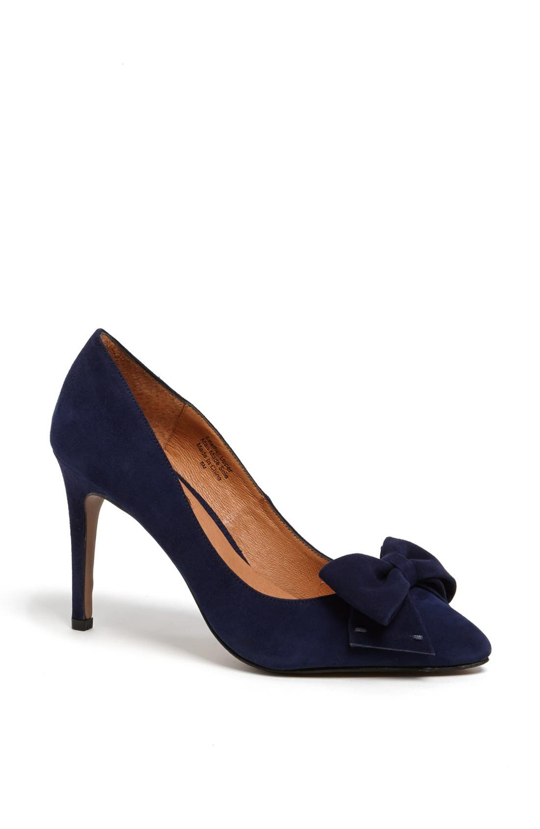 Alternate Image 1 Selected - Halogen® 'Marla' Suede Bow Pointy Toe Pump