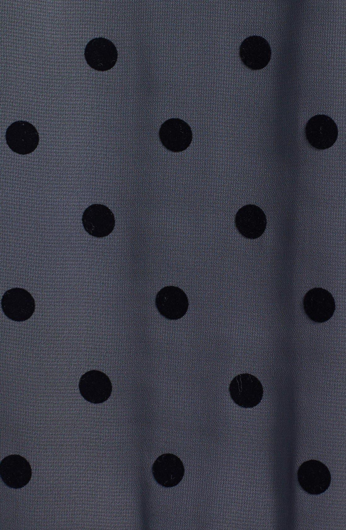 Alternate Image 3  - Olivia Moon Dot Print Chiffon Pullover