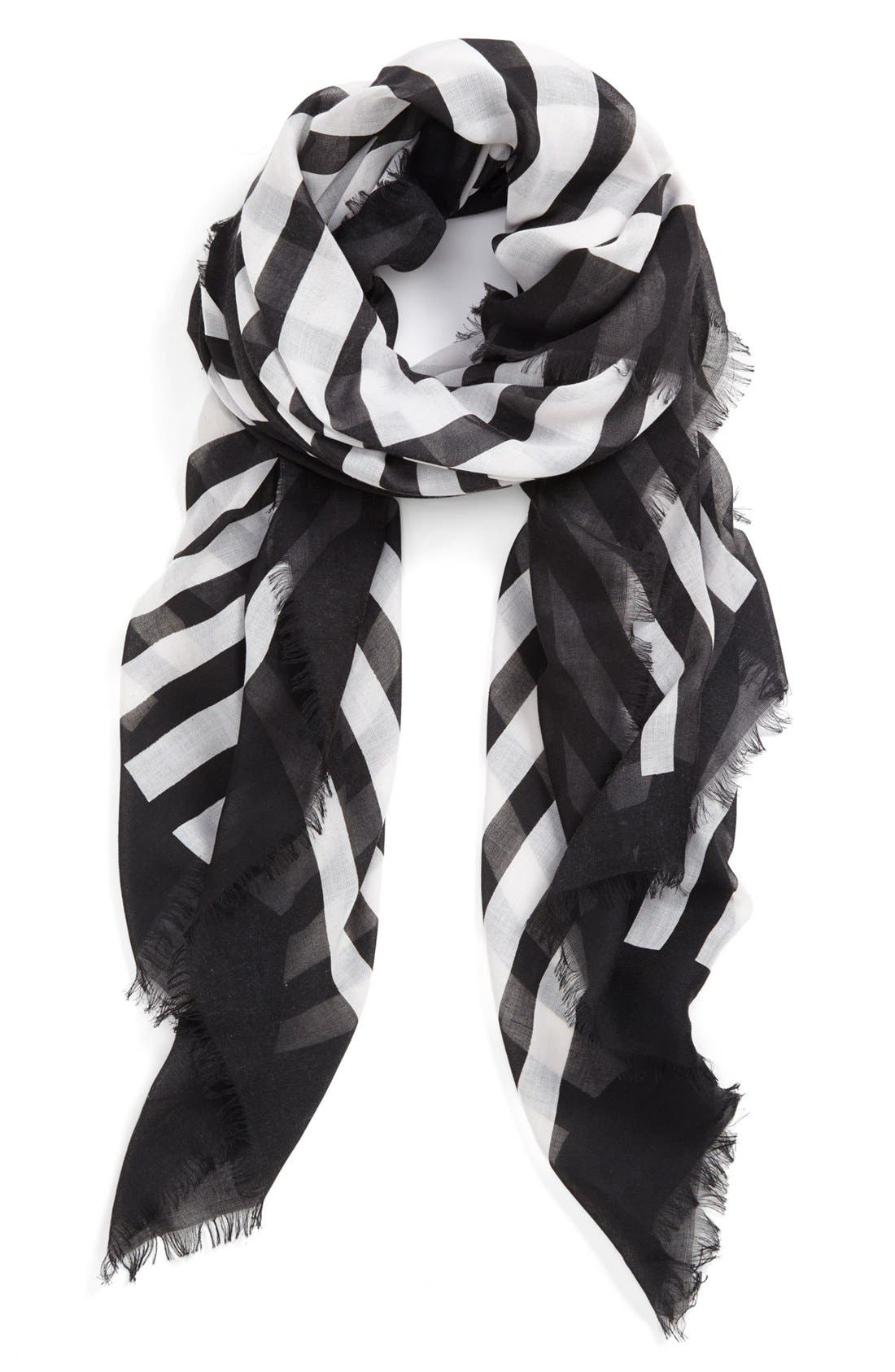 Main Image - Vince Camuto Geo Print Stripe Scarf