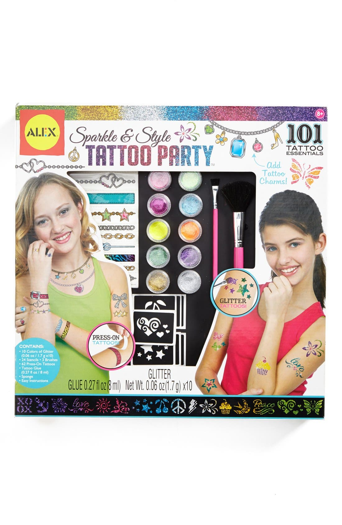 Alternate Image 1 Selected - Alex® Toys 'Sparkle & Style' Tattoo Kit