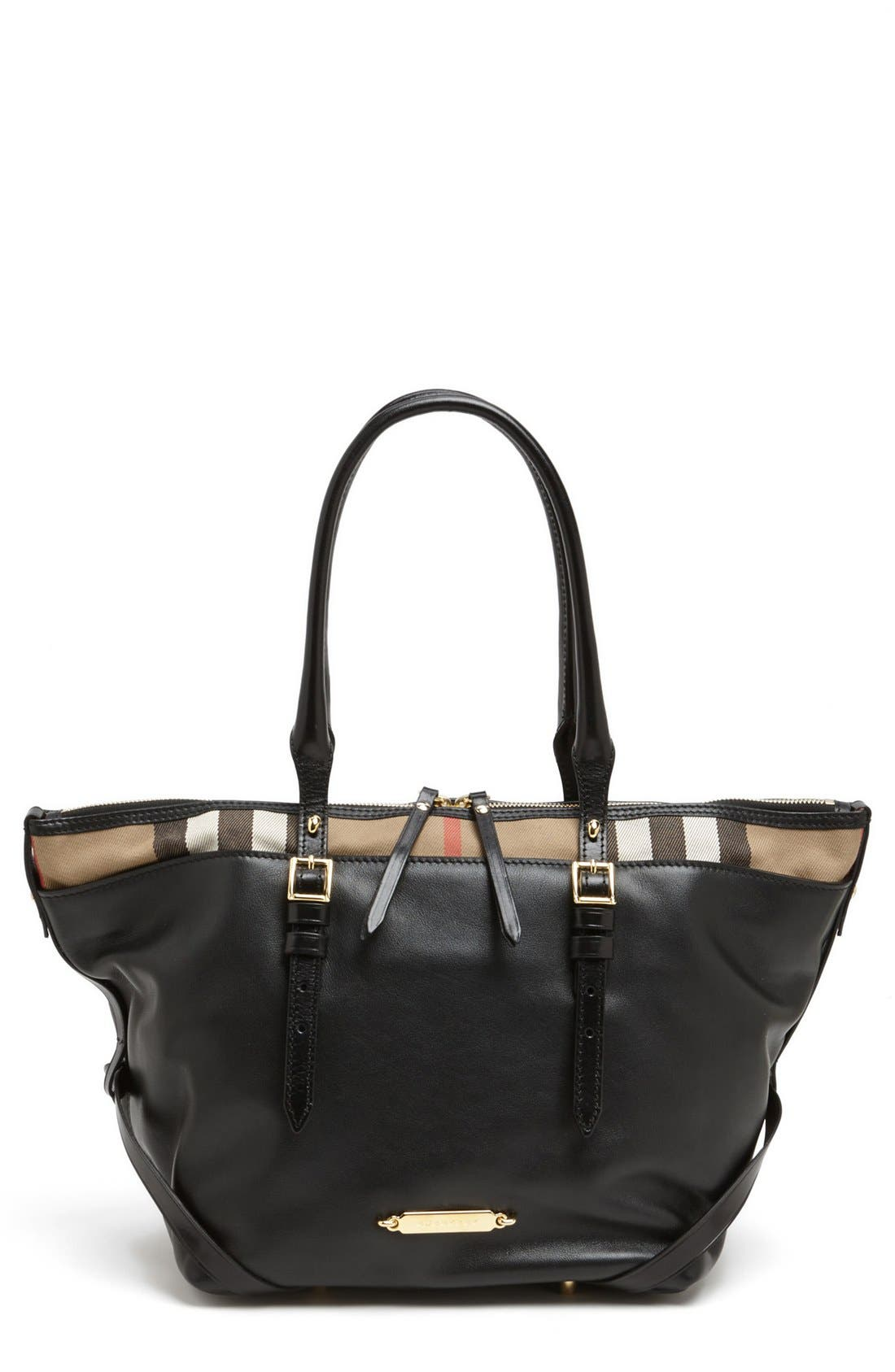 Alternate Image 1 Selected - Burberry 'Small Salisbury' Leather Over Shoulder Tote