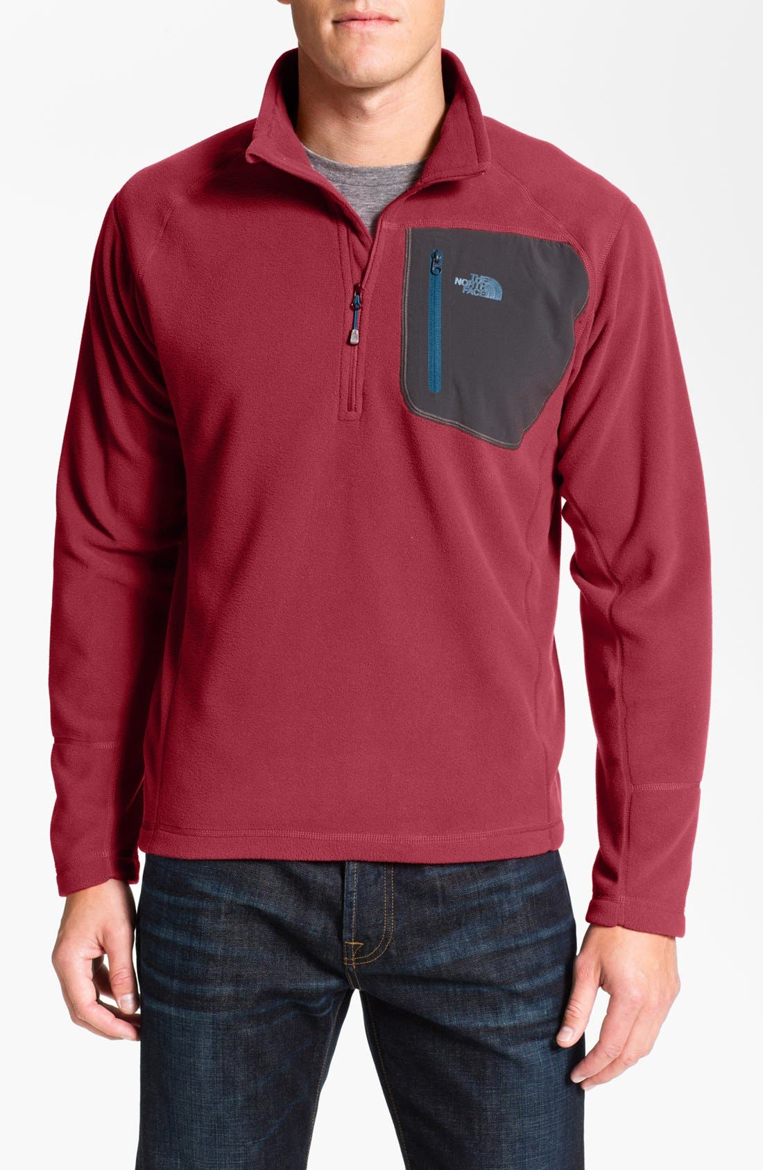 Main Image - The North Face 'TKA 100 Trinity Alps' Fleece Quarter Zip Pullover
