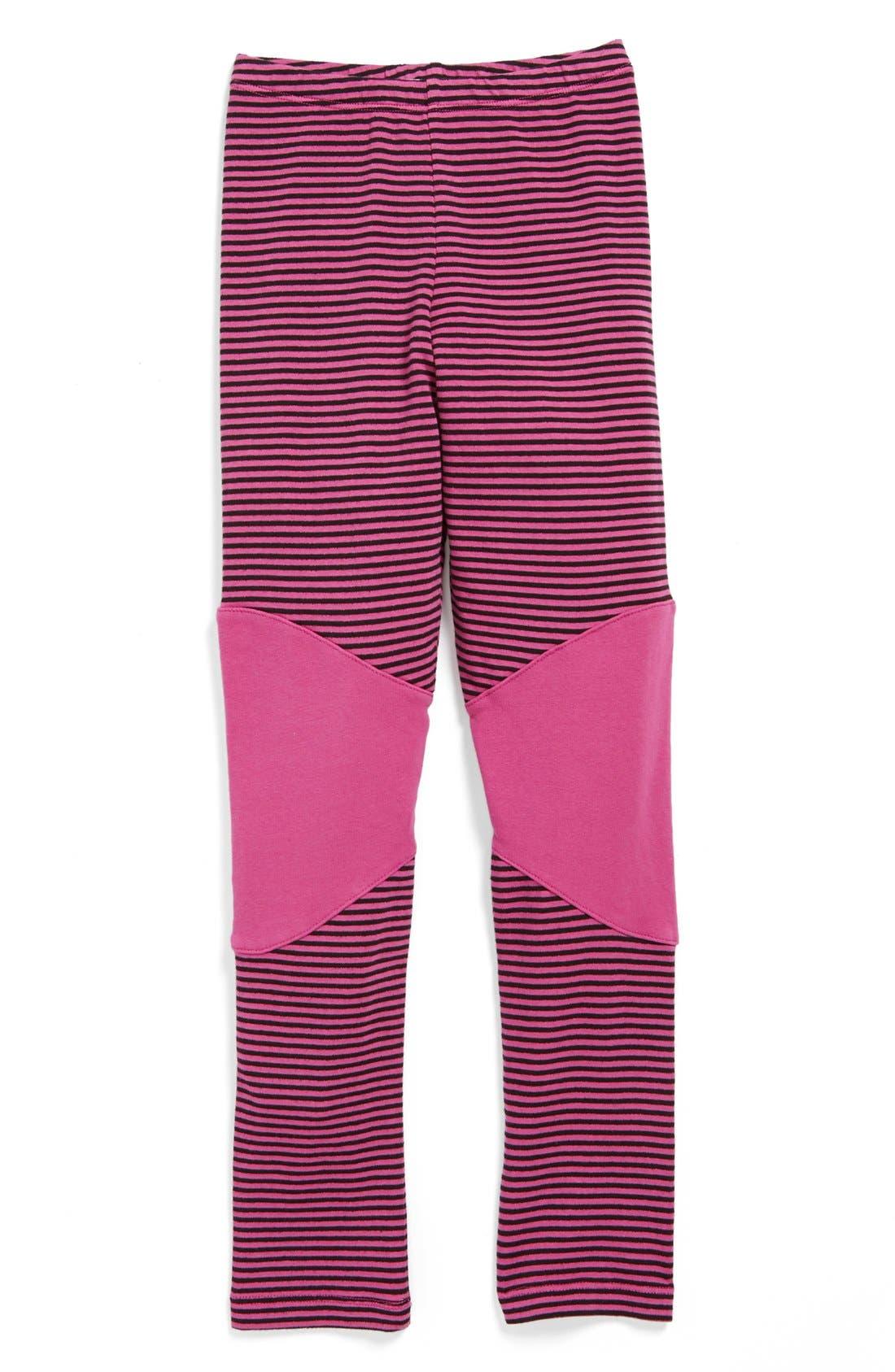 Alternate Image 1 Selected - Joah Love Stripe Leggings (Little Girls & Big Girls)