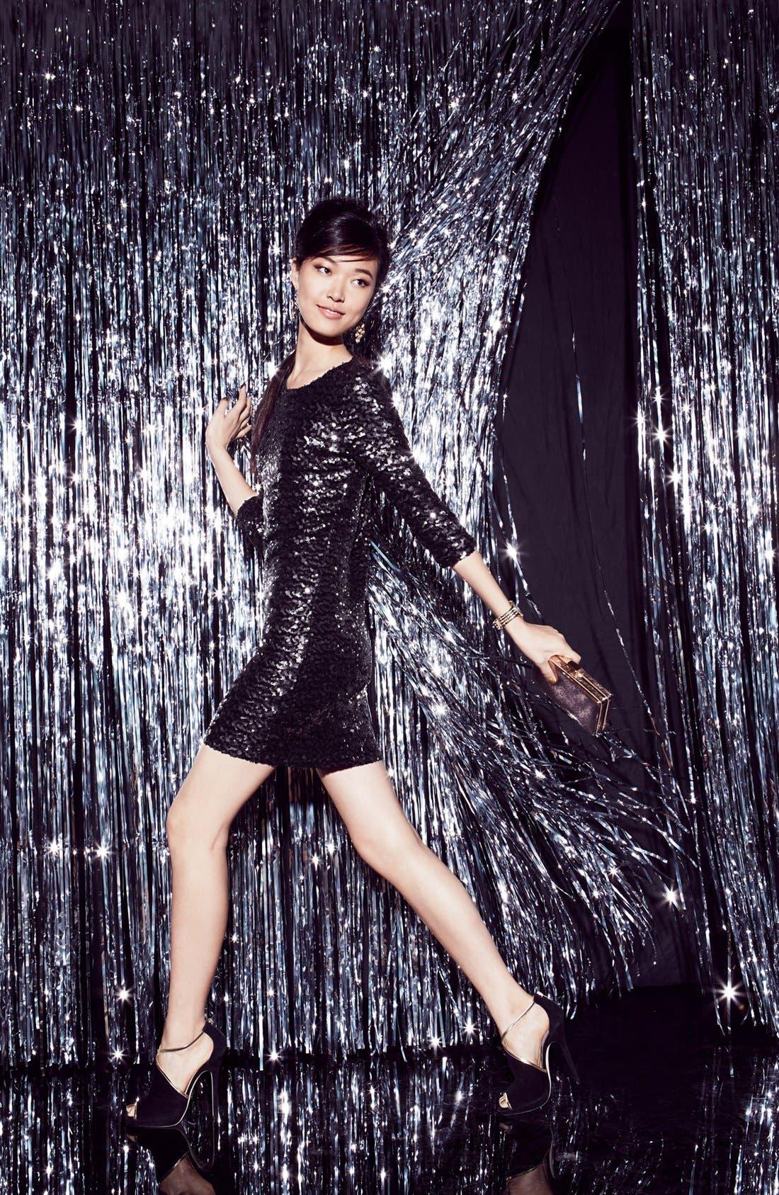 Main Image - BB Dakota Sequin Dress & Accessories