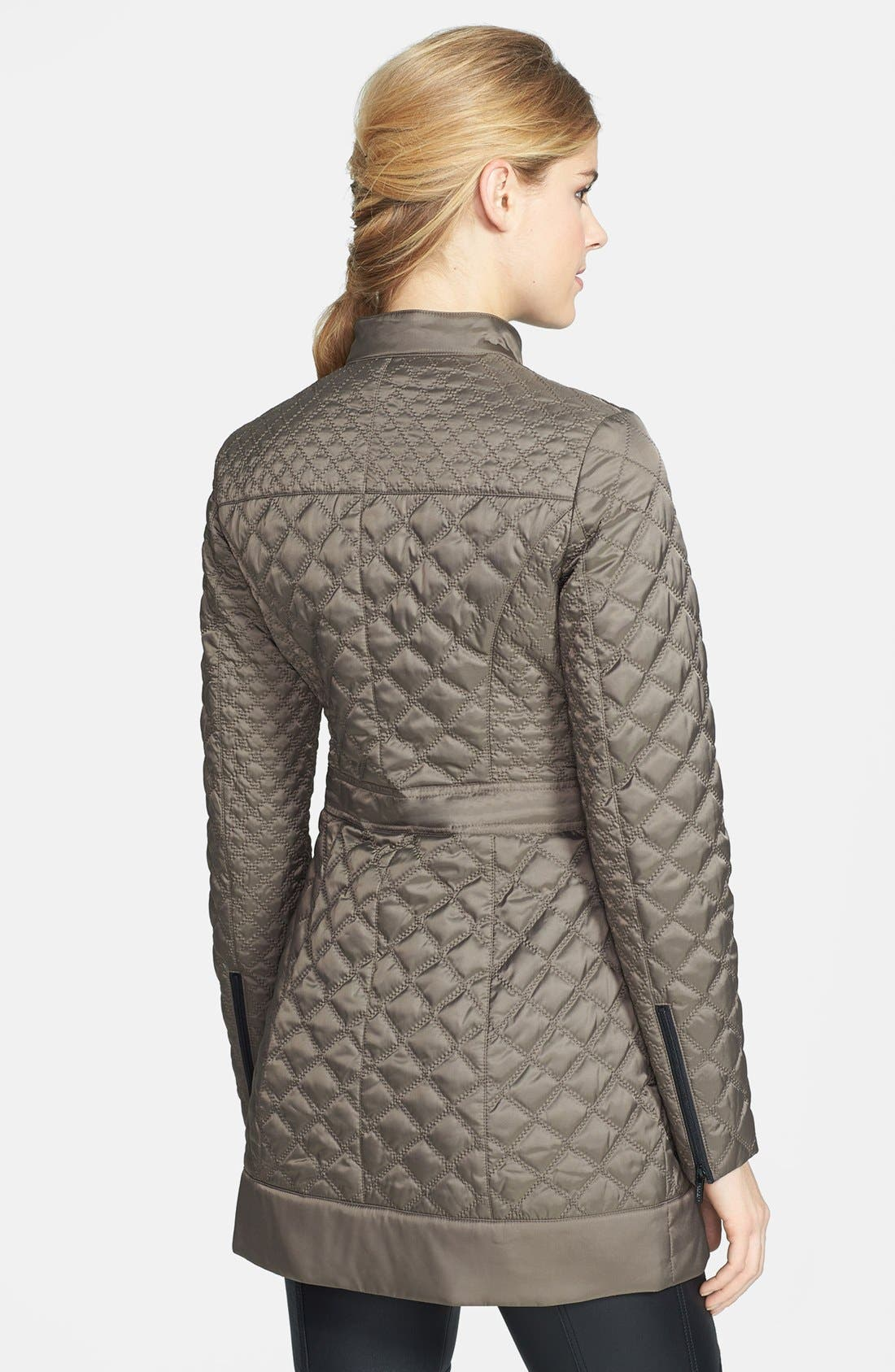 Alternate Image 2  - Laundry by Shelli Segal Packable Quilted Walking Coat (Regular & Petite)