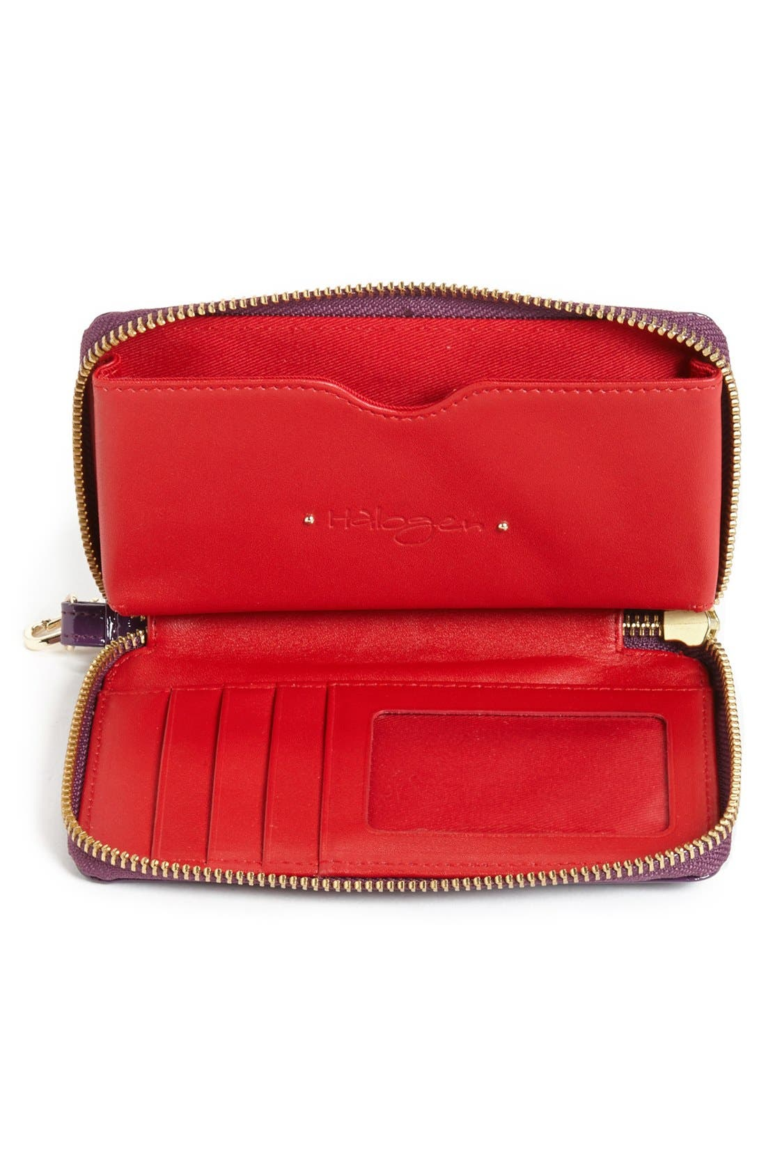 Alternate Image 2  - Halogen® 'Cassie' Crinkle Patent Leather Phone Wallet