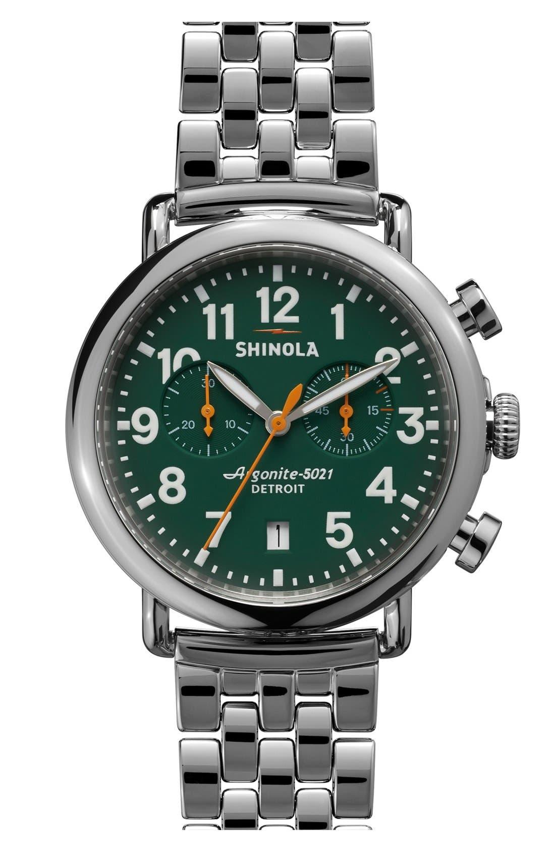 Alternate Image 1 Selected - Shinola 'The Runwell Chrono' Bracelet Watch, 41mm