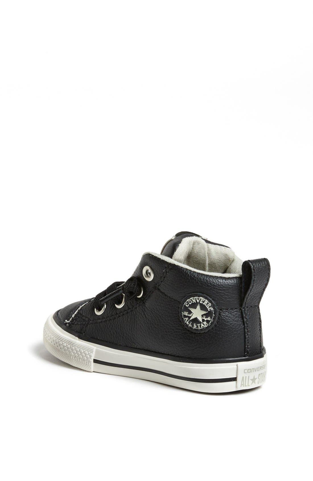 Chuck Taylor<sup>®</sup> All Star<sup>®</sup> 'CT AS Street' Leather Slip-On Sneaker,                             Alternate thumbnail 2, color,                             Black/ Tidal Foam