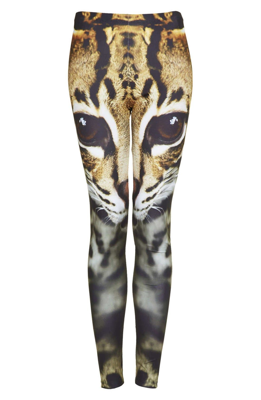Alternate Image 3  - Topshop Cat Face Leggings