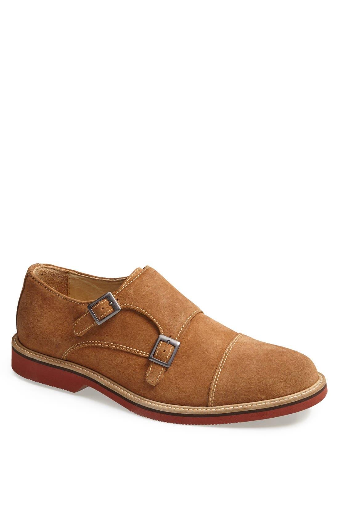 'Lynden' Double Monk Slip-On,                         Main,                         color, Rust