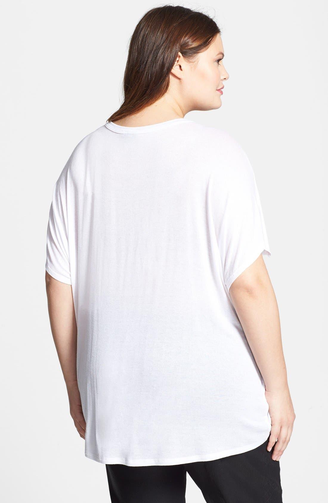 Alternate Image 2  - Bobeau Graphic Short Sleeve Tee (Plus Size)