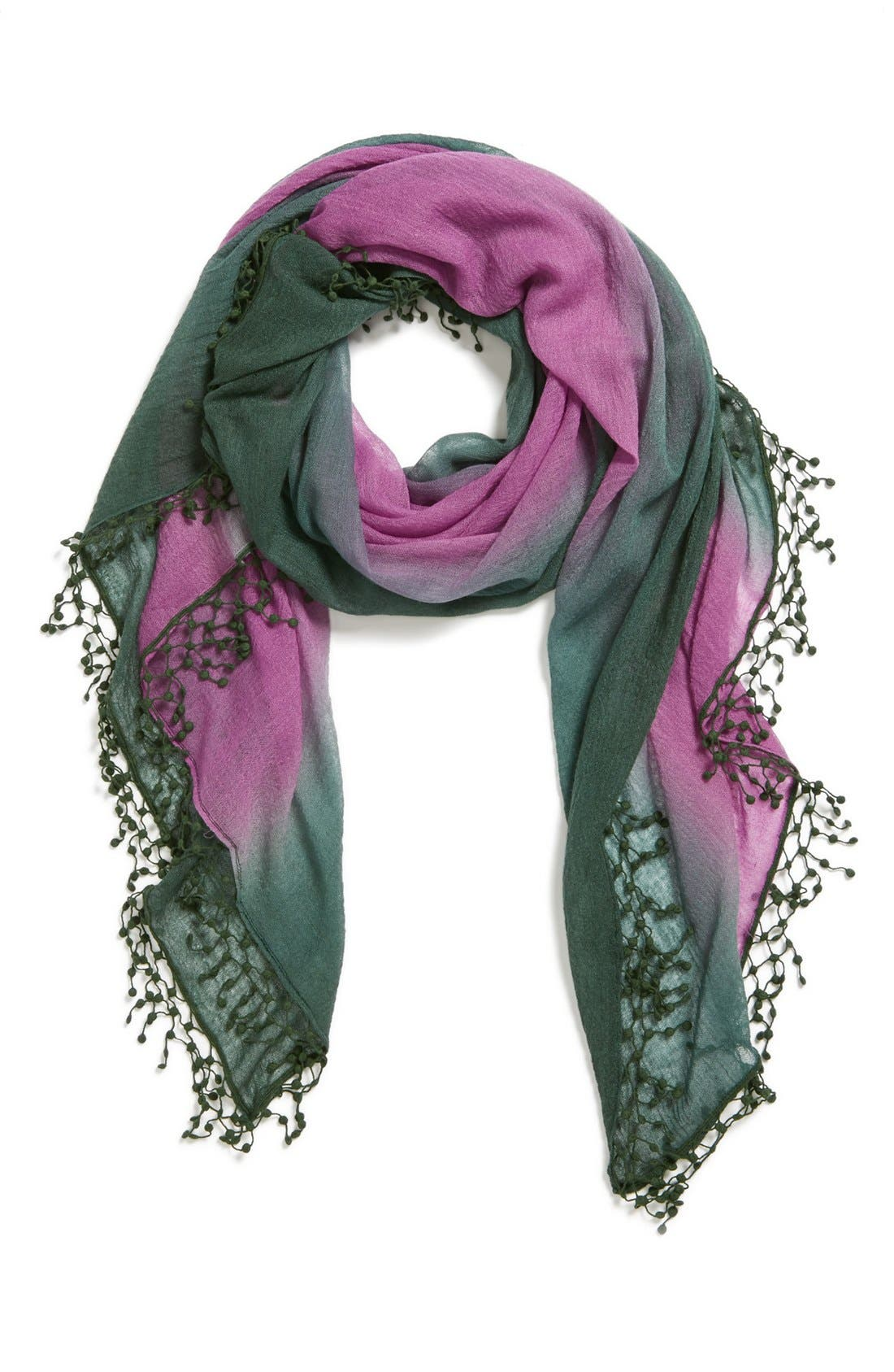Alternate Image 1 Selected - La Fiorentina Ombré Cashmere Scarf