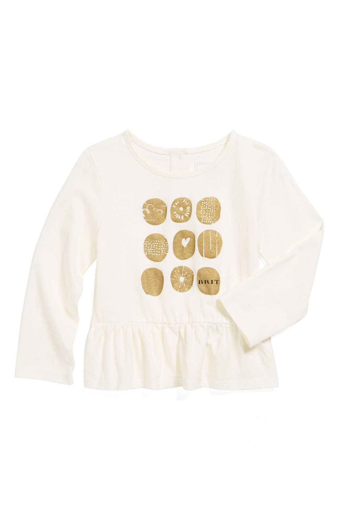 Alternate Image 1 Selected - Burberry Graphic Tee (Baby Girls)