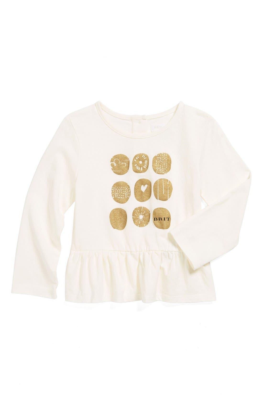Main Image - Burberry Graphic Tee (Baby Girls)