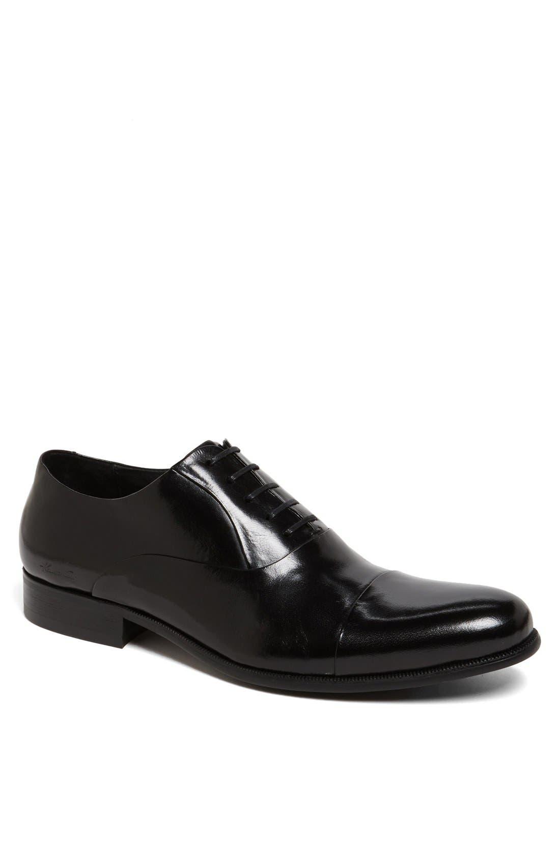 'Chief Council' Cap Toe Oxford,                         Main,                         color, Black
