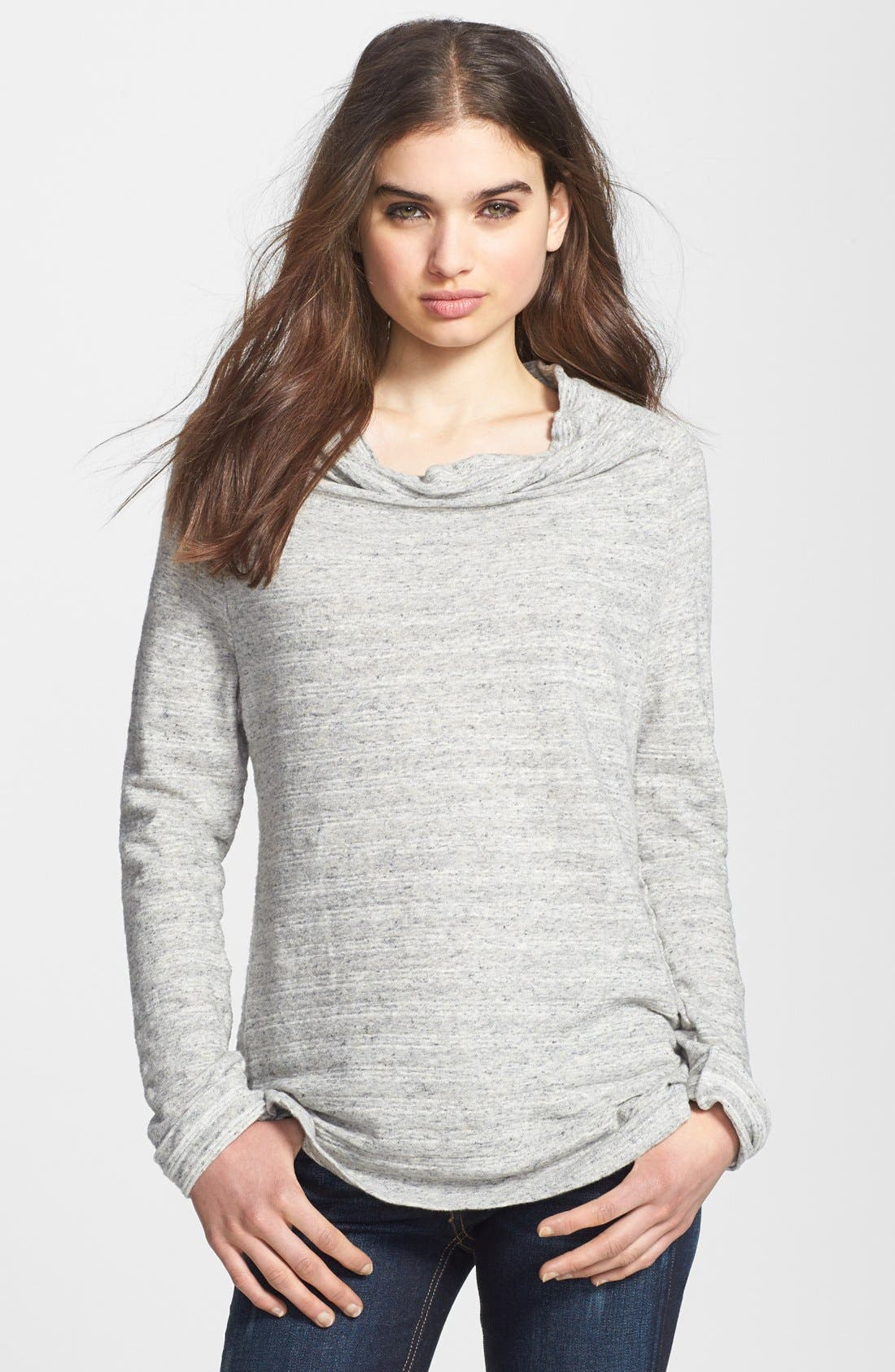 Alternate Image 1 Selected - James Perse Stripe Funnel Neck Sweater