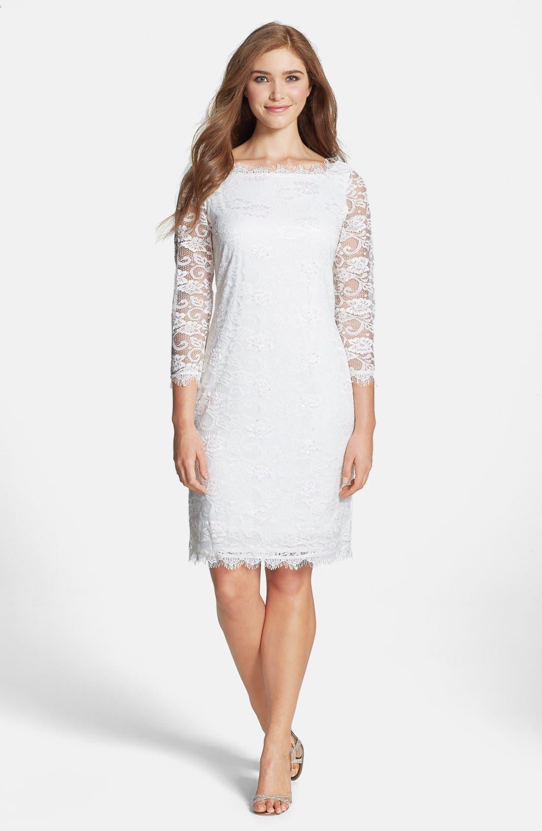 Alternate Image 3  - Marina Embellished Lace Sheath Dress