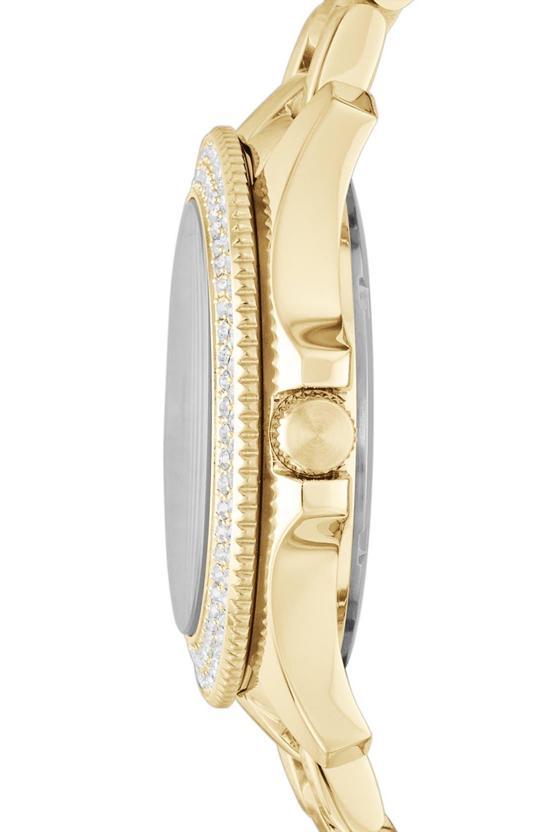 Alternate Image 3  - Fossil Round Crystal Bezel Bracelet Watch, 36mm